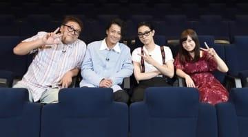 ▲左から福田雄一監督、小栗旬さん、菅田将暉さん、橋本環奈さん