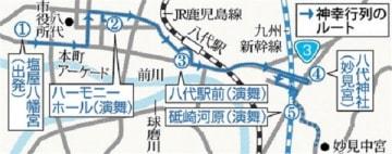 八代妙見祭 23日に神幸行列