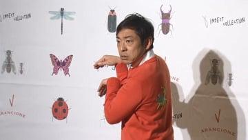 昆虫への愛が止まらない!香川照之カマキリセーターにご満悦