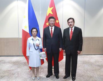 習近平主席、フィリピンの上下院議長と会見