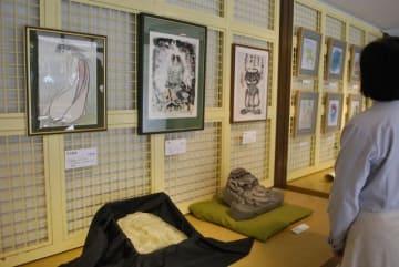 守屋春男さんの多彩なコレクションが並ぶ「河童展」=南足柄市郷土資料館