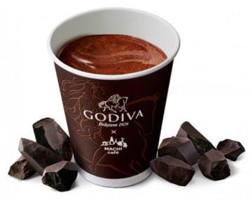 「MACHI café × GODIVA ホットチョコレート」(写真:ローソンの発表資料より)