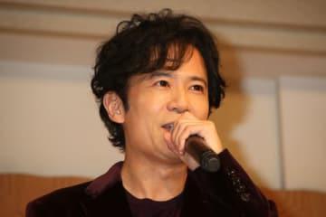 映画「ばるぼら」の製作発表会見に登場した稲垣吾郎さん