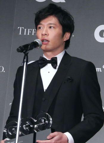 「GQ メン・オブ・ザ・イヤー2018」の授賞式に登場した田中圭さん