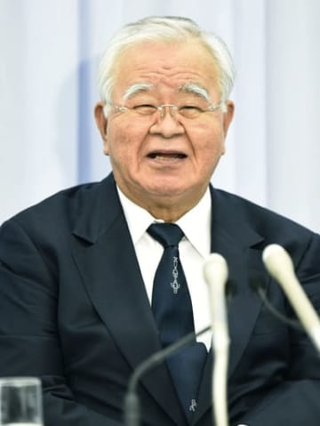 Keidanren chairman Yonekura at press conference
