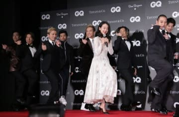 「GQ メン・オブ・ザ・イヤー2018」の授賞式に登場した「DA PUMP」ら受賞者