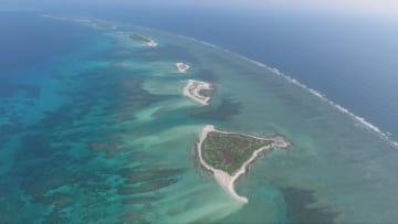 七連嶼北島のウミガメの「家」 海南省三沙市