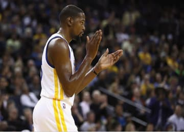 Kevin Durant Leads Warriors to 120-75 Preseason Win vs Clippers