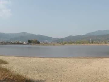 京都市が都市公園として保存計画案をまとめた広沢池(京都市右京区)