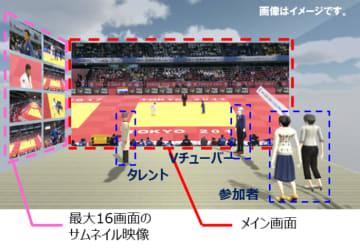 VR空間内のイメージ。(画像: NTTドコモの発表資料より)