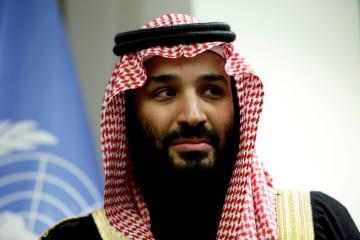 サウジアラビアのムハンマド皇太子=3月、ニューヨーク(ロイター=共同)