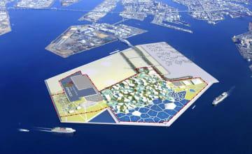 大阪市の万博会場のイメージ図