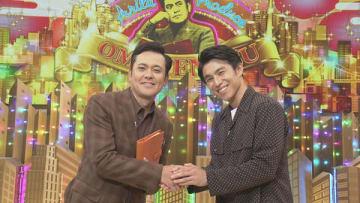 24日放送のNHKの番組「有田Pおもてなす」にゲスト出演する中尾明慶さん(右)=NHK提供