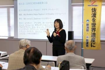世界文化遺産登録を目指す「金を中心とする佐渡鉱山の遺産群」の活動の在り方について考えた講演会=23日、東京