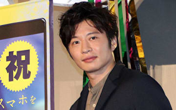 映画「スマホを落としただけなのに」の大ヒット御礼舞台あいさつに登場した田中圭さん