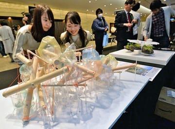 若者の夢の実現を目指す思いが詰まったパビリオンの模型=25日、大阪市北区のグランフロント大阪