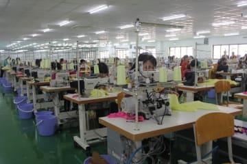 アタゴ・ガーメント・ベトナムは12月に本格生産に入る=11月、ビンズオン省