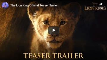 日本公開日も気になる!(写真はYouTube『ザ・ライオン・キング(原題) / The Lion King』海外版予告のスクリーンショット)