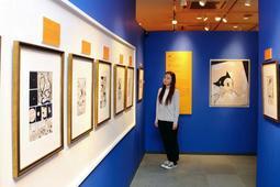 フランス・アングレームで開かれた手塚治虫氏の特別展示にちなんだ企画展=宝塚市武庫川町