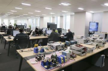 アイリスオーヤマが報道陣に公開した家電の研究開発拠点=27日午後、東京都港区