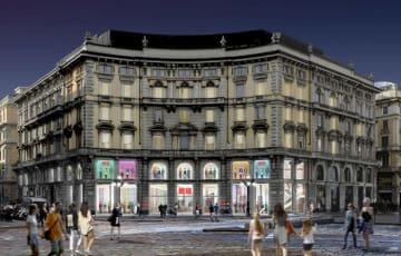 店舗は、1900年代初期にFrancesco BelloriniとIppolito de Staniによって設計された建物にオープン予定となっている。(画像: ユニクロの発表資料より)
