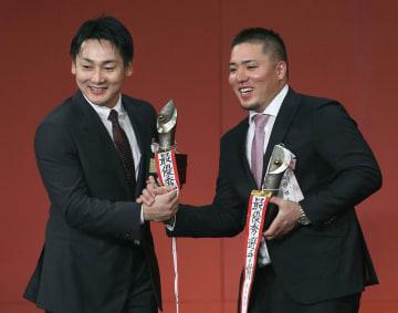2018 baseball MVP awards Yoshihiro Maru Hotaka Yamakawa
