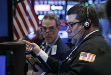 27日のニューヨーク証券取引所(UPI=共同)