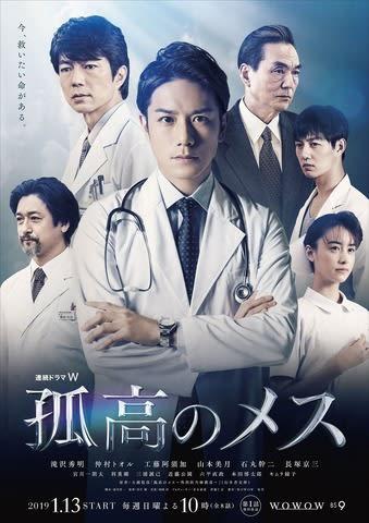 WOWOWのドラマ「連続ドラマW 孤高のメス」の本ポスター