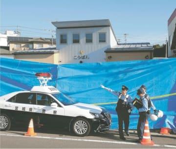 巡査長が襲撃され、死亡した仙台東署東仙台交番=2018年9月19日午前7時30分ごろ、仙台市宮城野区東仙台2丁目