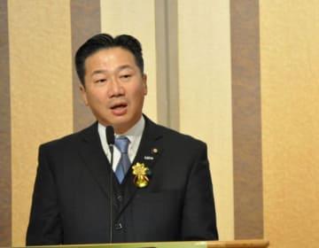 政府を批判する立憲民主党の福山幹事長=横浜市中区