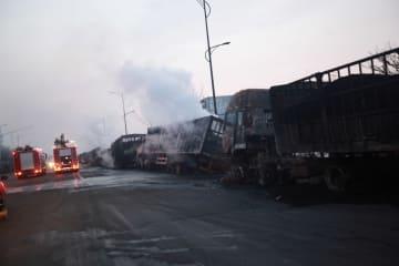 河北省張家口で爆発·火災 22人死亡22人負傷