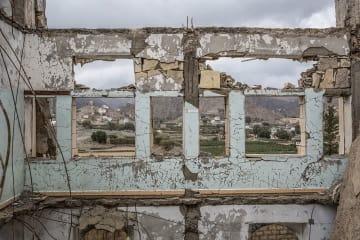 2016年、サウジアラビア主導の有志連合による空爆で破壊された学校(サアダ、2018年3月撮影) © Agnes Varraine-Leca/MSF