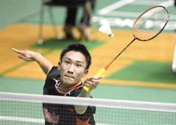 男子シングルスで2回戦進出を決めた桃田賢斗=駒沢体育館