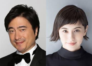 「生中継!第61回グラミー賞授賞式」に案内役として出演するジョン・カビラさん(左)とホラン千秋さん