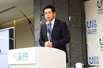 プロジェクトを率いる海野光行日本財団常務理事