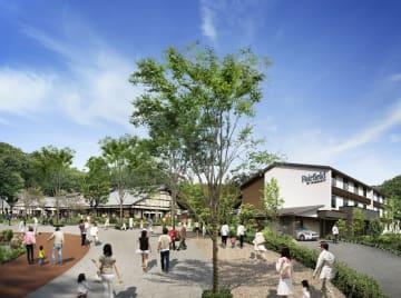 道の駅の隣接地に建設するホテル(右手前)のイメージ