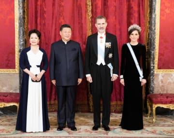 習近平主席、スペイン国王主催の歓迎レセプションに出席