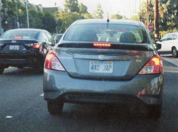 Kansas license plate featuring racial slur