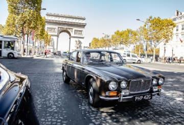 """ジャガーXJの50周年を記念し企画されたドライブツアー""""Jaguar XJ Historic Convoy to Paris""""に参加した"""