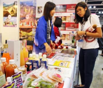 Fukushima Pref. promotes local specialties at Hong Kong food fair