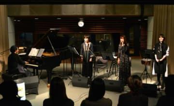 左から林正樹さん、太田美帆さん、坂本美雨さん、武田カオリさん