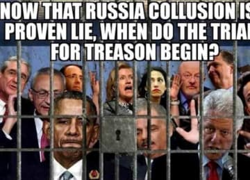 Trump shares 'treason' meme of Democrats and critics behind bars