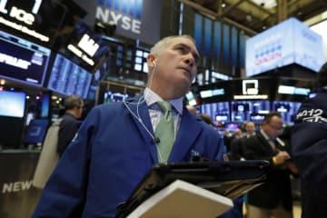29日のニューヨーク証券取引所(AP=共同)