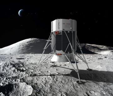 日本の「ispace」が開発に参加する月着陸機「アルテミス7」の想像図(ドレイパー提供)