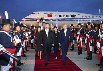習近平主席、ブエノスアイレス到着 G20サミット出席とアルゼンチン公式訪問へ
