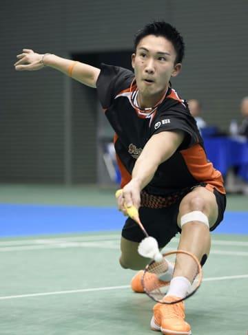 男子シングルスで準決勝に進んだ桃田賢斗=駒沢体育館