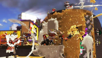 『スプラトゥーン2』クリスマス&ニューイヤーフェス「Frosty Fest」1月4日より開催!インクもキラキラの豪華ラメ入りパーティー仕様に