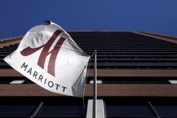 米ニューヨークのマリオット・インターナショナル傘下のホテル=2015年11月(ロイター=共同)