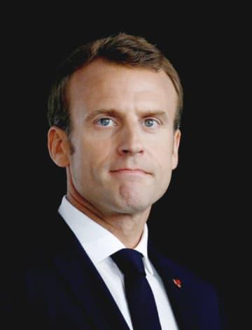 フランスのマクロン大統領(ロイター=共同)