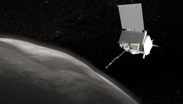 小惑星ベンヌを調べる米探査機オシリス・レックスの想像図(NASA提供・共同)